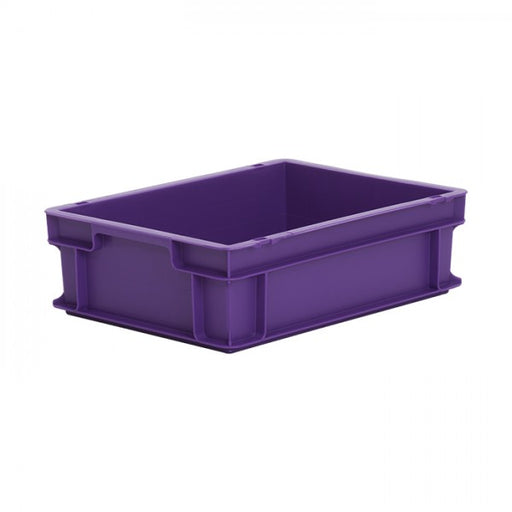Euro size plastic stacking box in purple