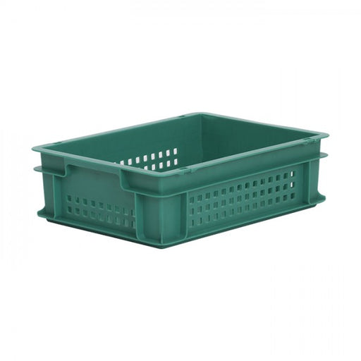 Euro size plastic box in green