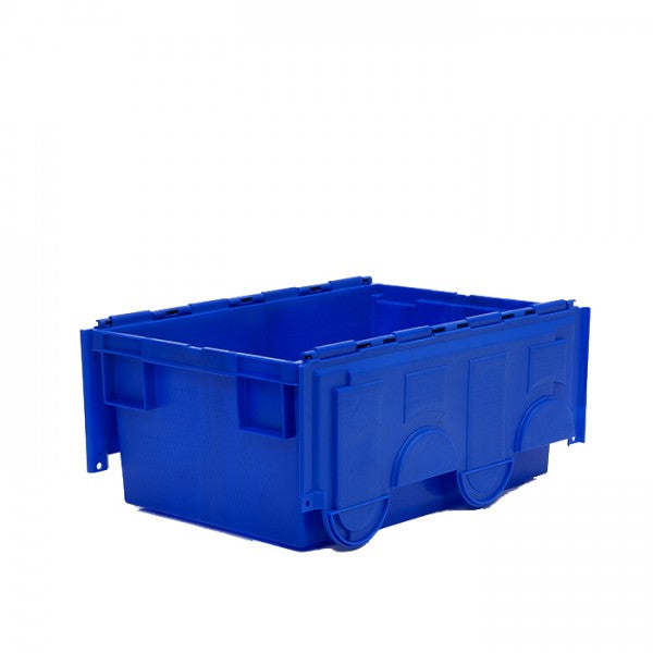 49.5 Litre Coloured Attached Lid Container with Coloured Base
