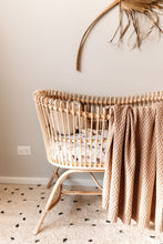 Load image into Gallery viewer, NEW Diamond Knit Baby Blanket - Hazelnut