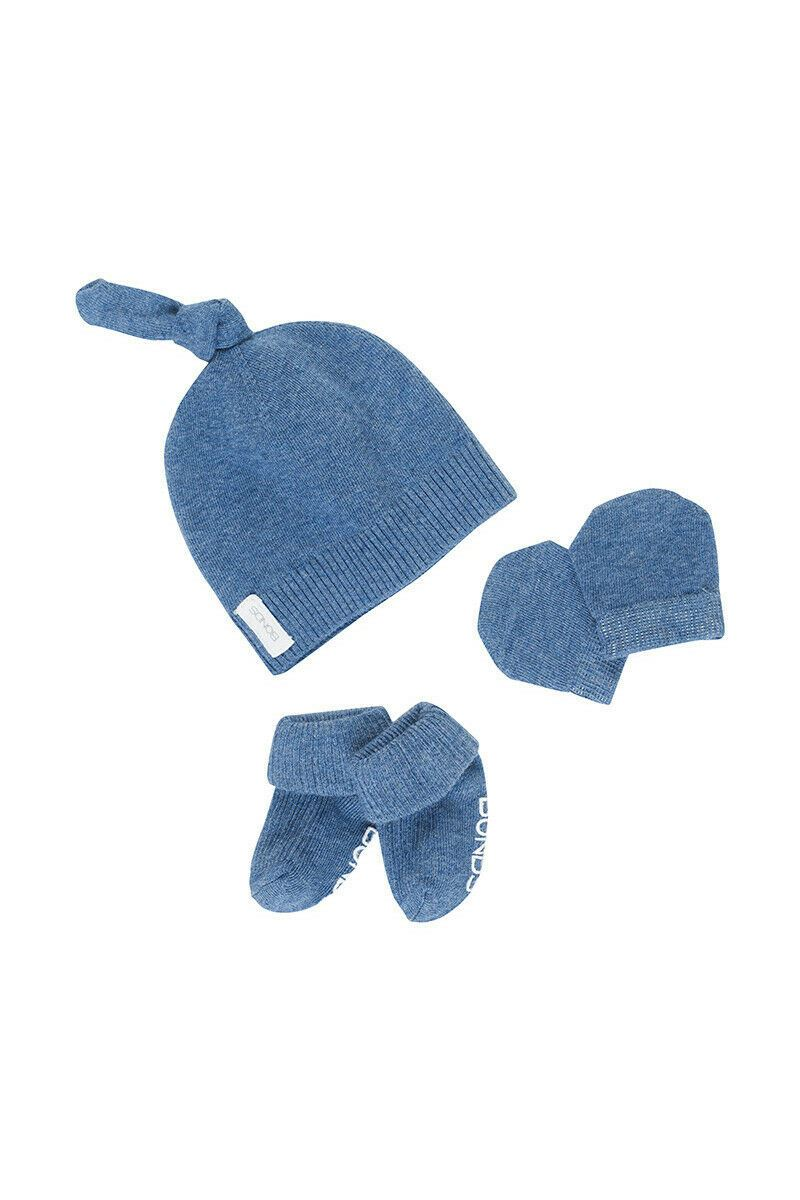 Bonds Baby Newbies Newborn Hat, Mittens & Booties Set - Denim Blue