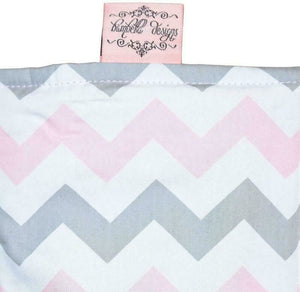 Lux Waterproof Bassinet Mattress Protector - Chevron Pink