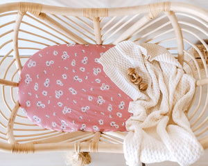 Bassinet Sheet & Change Pad Cover - Daisy