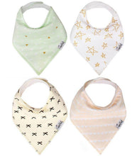 Load image into Gallery viewer, Copper Pearl Bandanna Bibs 4 Pack - Paris
