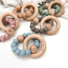 Load image into Gallery viewer, Elements Range Wooden Teether & Rattle