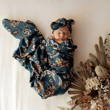 Load image into Gallery viewer, NEW Baby Jersey Wrap & Topknot Set - Belle