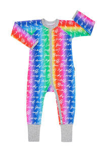 Bonds Baby Zippy Wondersuit - Bonds Loves You Rainbow Pride