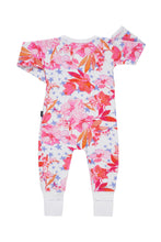 Load image into Gallery viewer, Bonds Baby Printed Poodlette Zippy Wondersuit - Garden Star White