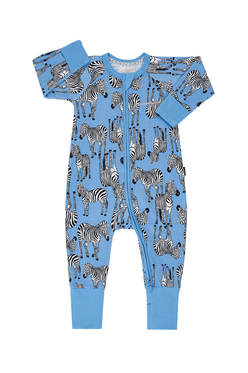 Bonds Baby Zippy Wondersuit - Zulu Zebra Track n' Field