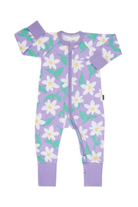 Bonds Baby Zippy Wondersuit - Daisy Dreaming Prince Purple