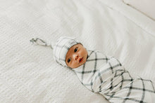 Load image into Gallery viewer, Copper Pearl Newborn Top Knot Hat - Ledger