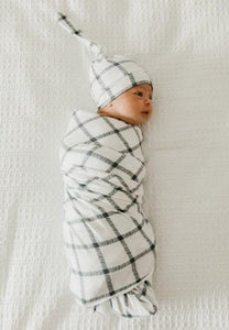 Copper Pearl Knit Swaddle Blanket - Ledger