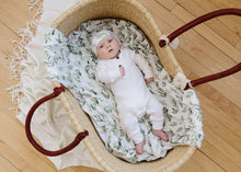 Load image into Gallery viewer, Copper Pearl Knit Swaddle Blanket - Fern