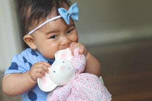 Meiya the Mouse Floral Plush Teether Toy