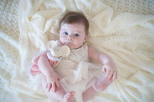 Meiya the Mouse Snuggly Teether Comforter