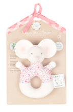Load image into Gallery viewer, Meiya the Mouse Pink Floral Rattle