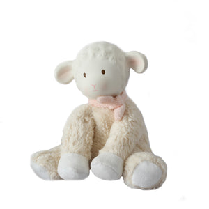Lila Lamb Pink Soft Toy with Rubber Head