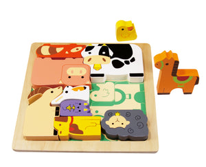 Chunky Wooden Puzzle - Farm Animal