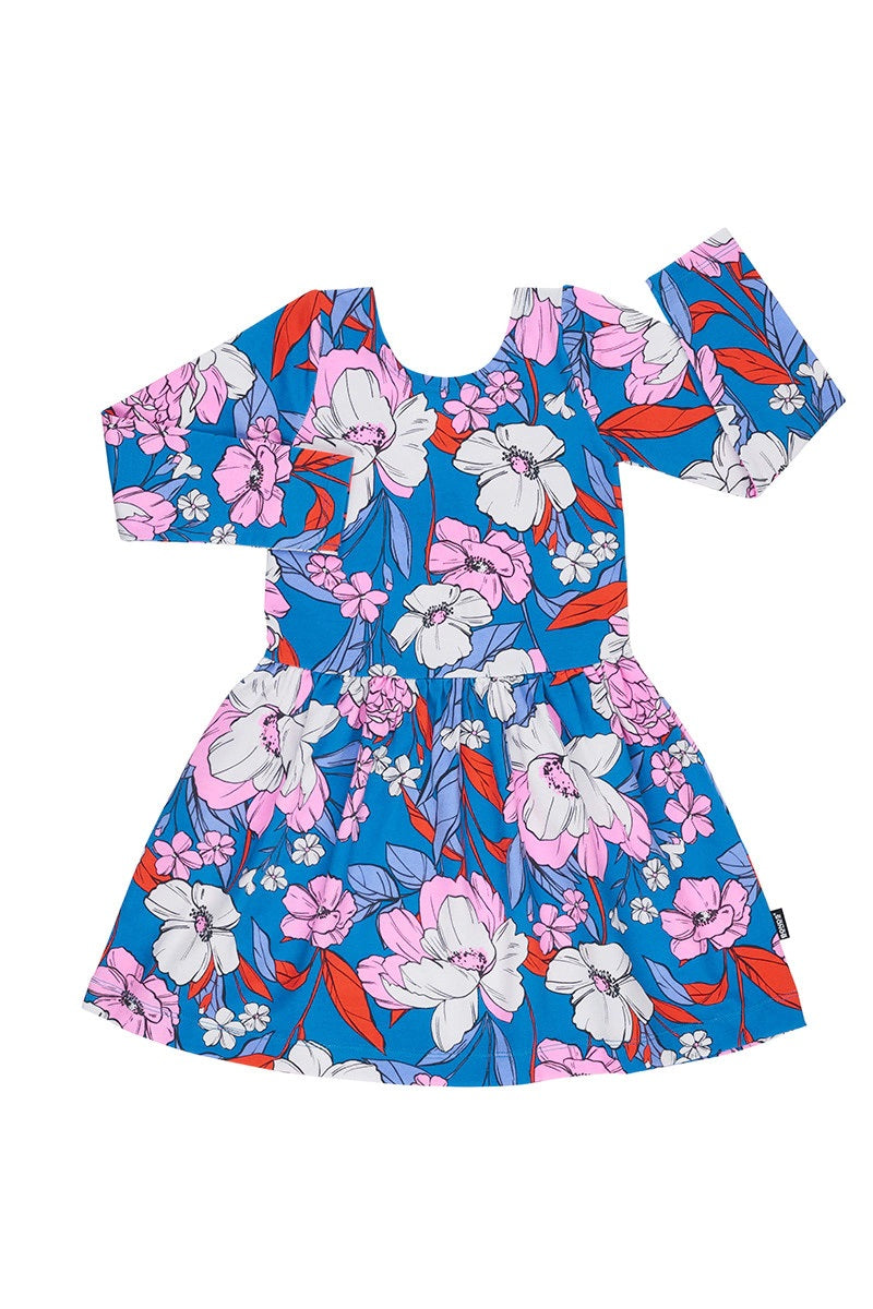 Bonds Kids Long Sleeve Dress - Garden Estate