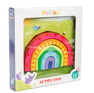 Wooden Rainbow Tunnel Toy