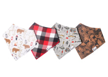Load image into Gallery viewer, Copper Pearl Bandanna Bibs 4 Pack - Lumberjack