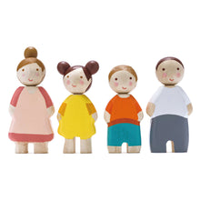 Load image into Gallery viewer, Wooden Leaf Doll Family
