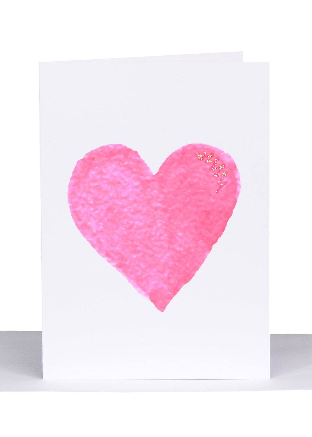 Greeting Card - Pink Heart