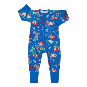Bonds Disney Baby Zippy Wondersuit - The Little Mermaid Blue