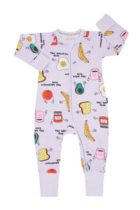 Bonds Baby Zippy Wondersuit - Breakfast Club Flower Field