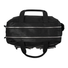 Load image into Gallery viewer, Faux Leather Carry All Nappy Bag - Black