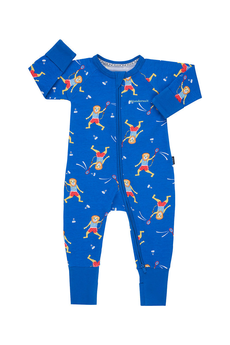 Bonds Baby Zippy Wondersuit - Lewis Plays Badminton Blue