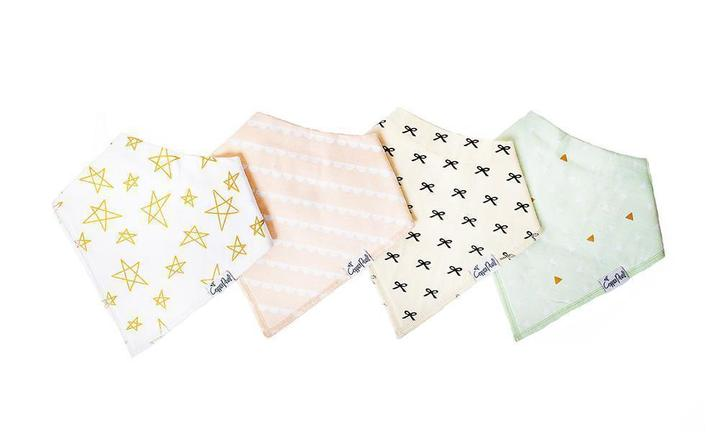 Copper Pearl Bandanna Bibs 4 Pack - Paris