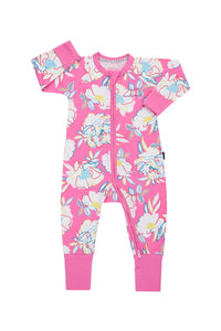 Bonds Baby Zippy Wondersuit - Rainbow Garden Pink