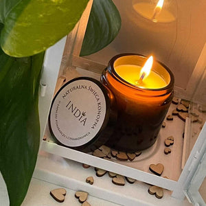 The hemp candle with patchouli
