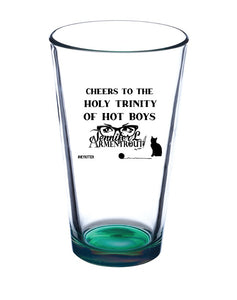 HOLY TRINITY OF HOT BOYS - LUX BOX Pint Glass