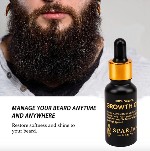 100% Natural: Beard Growth Oil Kit