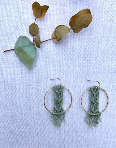 Triple Chevron Earrings - BOTANICAL