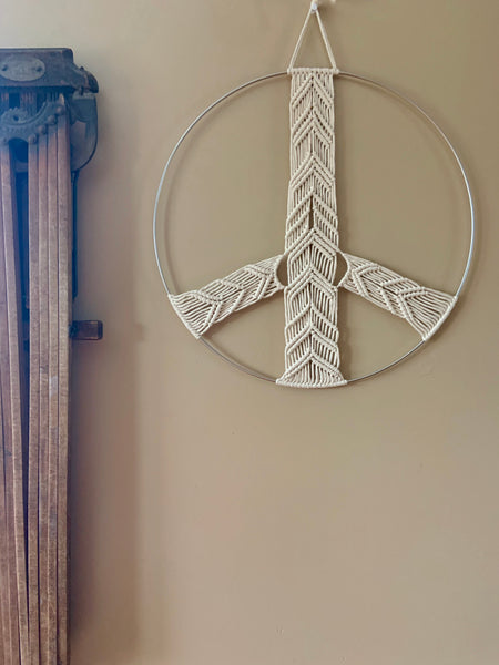 Large Peace Sign Wall Hanging