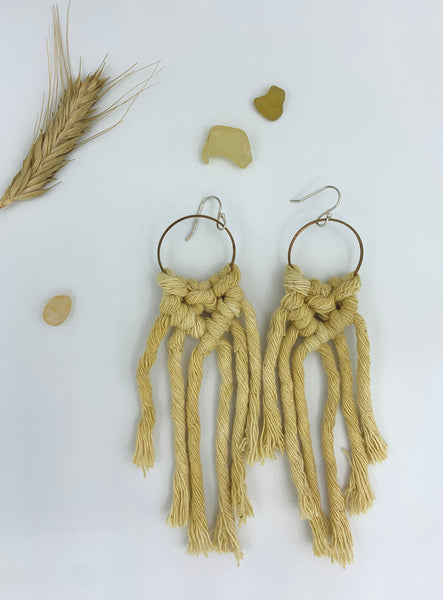 Long V Earrings - Yellow