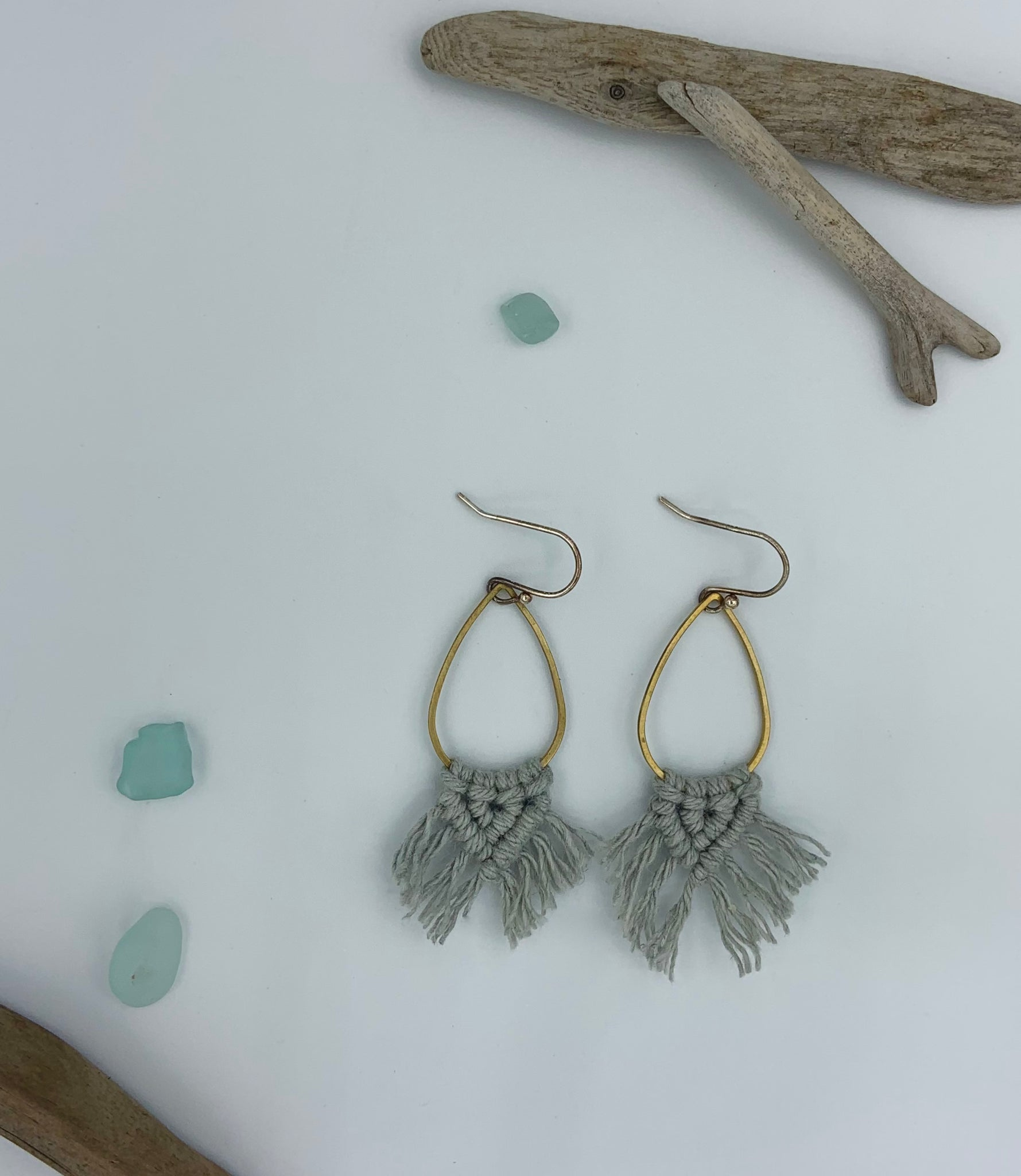 Mini Drop Earrings  - Pale Blue