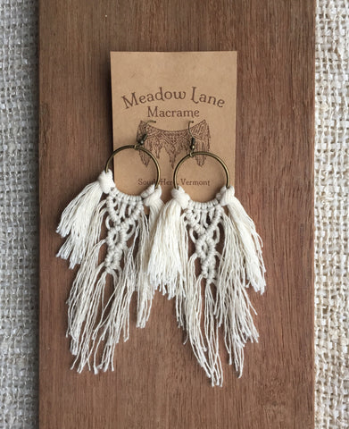 Lotus Fringe Earrings in Natural