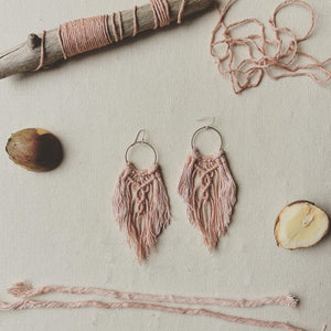 Lotus Fringe Earrings in Blush (Avocado)