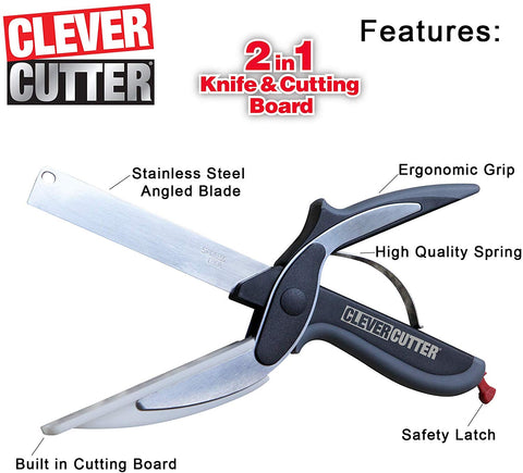 Kitchen 2-in-1 stainless steel cutting scissors