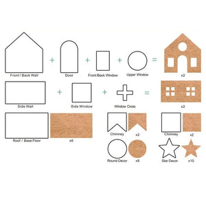 Gingerbread House Cookie Cutter Set - Trending2