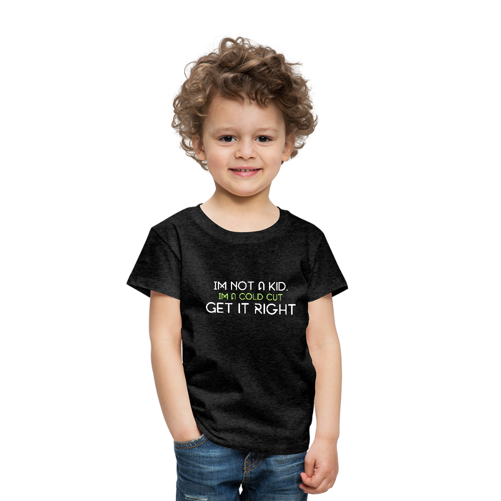 Not A Kid Jr. Cuts T - charcoal gray