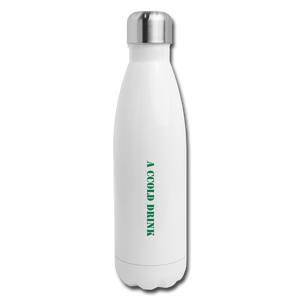 CCold Drink Stainless Steel Water Bottle - white