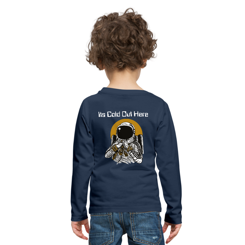 No Time Kids' Premium Long Sleeve T-Shirt - navy