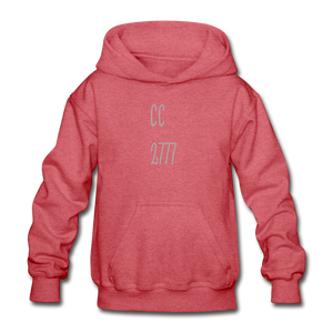 Cold Winter Heavy Blend Youth Hoodie - heather red