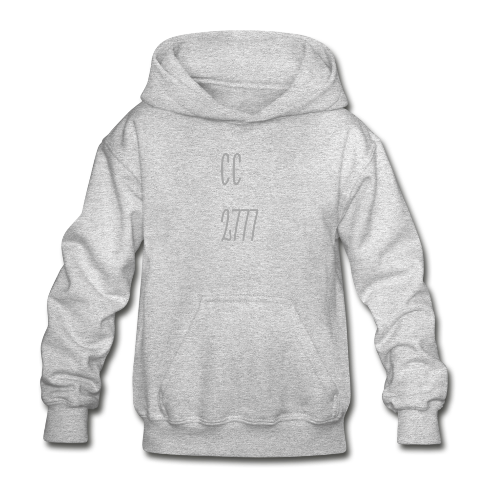 Cold Winter Heavy Blend Youth Hoodie - heather gray