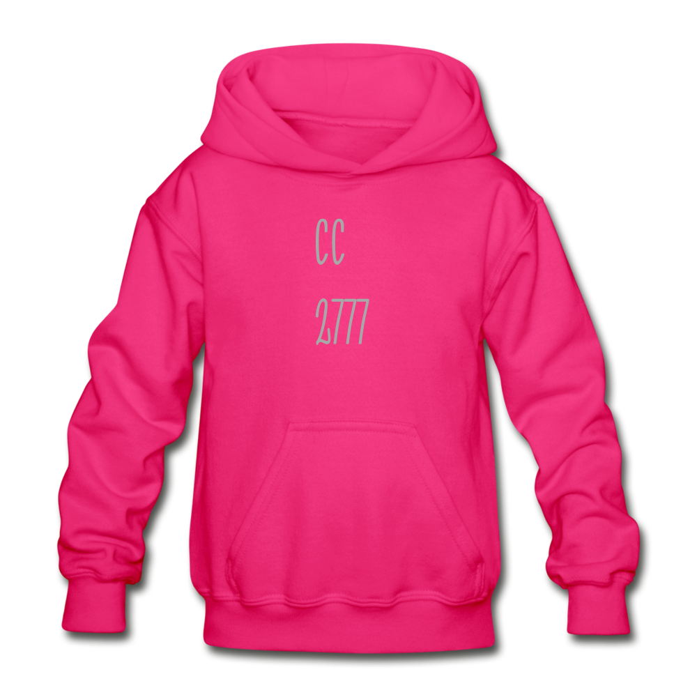 Cold Winter Heavy Blend Youth Hoodie - fuchsia
